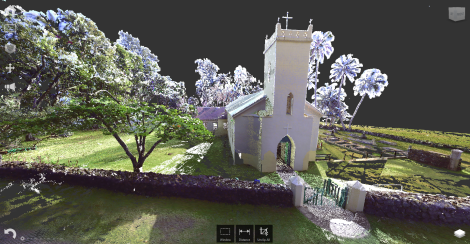 The laser scan data in Autodesk ReCap