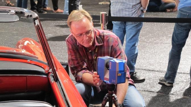 Pete scanning the Ferrari