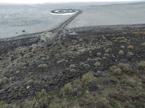 Spiral Jetty from the UAS